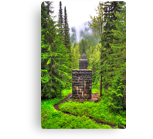 Pillars in the forest Canvas Print