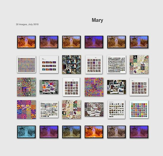 Collage 19- Mary-A Collage of collages. by HKBlack