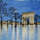 Rainy Eve on the Champs-Élysées by Cameron Porter
