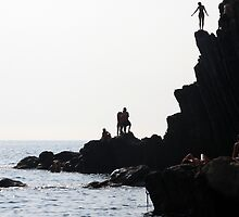 The Dare - Riomaggiore, Cinque Terre, Italy by Ruth Durose