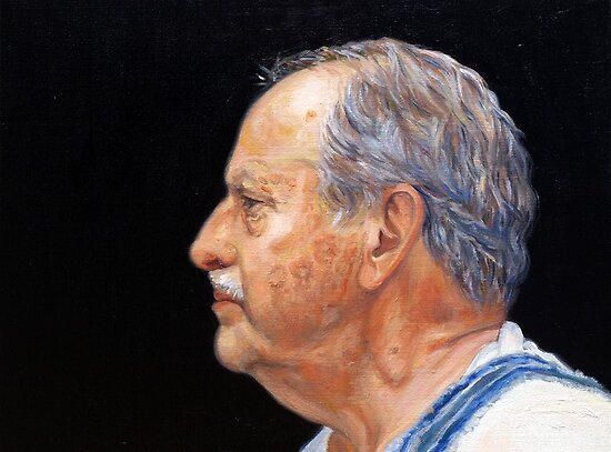 Portrait Art: Profile, Dad by Cameron Hampton