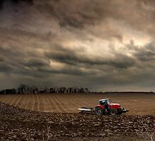 Ploughing in November - Norfolk, UK by Kathy Wright