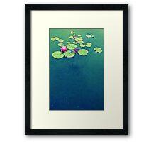 Lily Pond Blues Framed Print