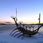 Iceland Sunset in winter by chipster