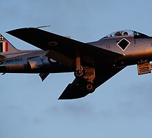 CAC 27 Sabre fly by on last light 01 by poleposition