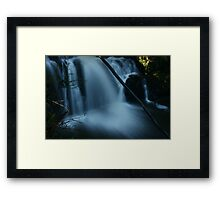 Blue Silk... Framed Print