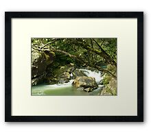 Pipers River Cascade Framed Print