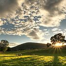 Sunset over Wreay, Cumbria. by SIMpixels
