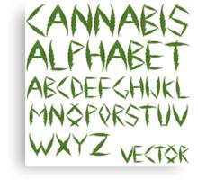 Cannabis leaf alphabet Canvas Print
