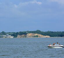 Boating on the Missouri River-Lewis and Clark Recreation Area, Yankton, SD by hastypudding