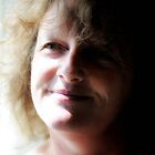 Facing the light. (karen July self portarit) by Karen  Betts