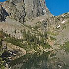 Emerald Lake Reflection of Hallet Peak by Luann wilslef