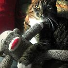 Just hanging with my sock monkey! by MagicalDecor