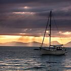 Sunset Over Jura by peartree