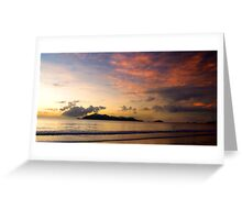 Sunrise over Dunk Island with clouds Greeting Card