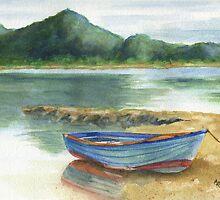 Blue Lake Greece by Marsha Elliott