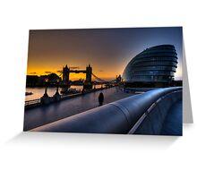 Southbank Sunrise: London, UK Greeting Card