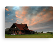 House in village Canvas Print