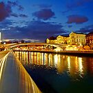 Bilbao Blue Hour - University of Deusto and the river Nervion by DavidGutierrez