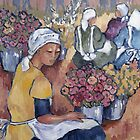 Adderley Street flower sellers by Marie Theron