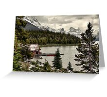Maligne Lake Boat Shed Greeting Card