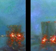 Arkansas Traffic I & II diptych by Cameron Hampton