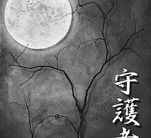 Shugosha (Protector), Black and White Japanese Wall Art by soniei