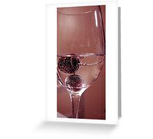 Cherry Bubbles Greeting Card