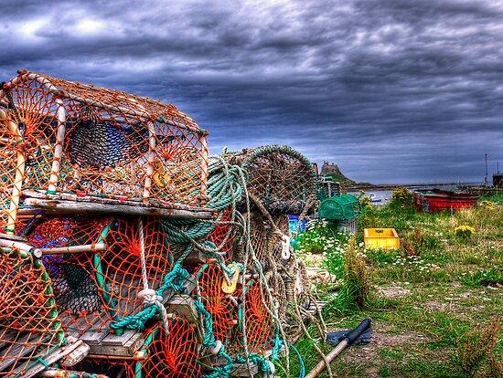 Lobster Pots & The Castle by Ryan Davison Crisp