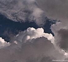 Puffy Clouds Highlighted By the Sun by HeavenlyCanvas