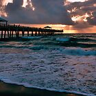 Sunrise at the Pier, Juno Beach, FL by nancyb926