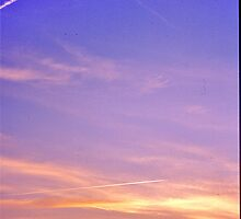 Sunset and Contrails by David Davies