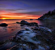 Sunrise Over Superior by by M LaCroix