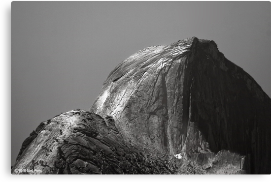 Climbers On Half Dome by Alex Preiss