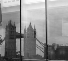 London Bridge Reflection by Tom Bosley