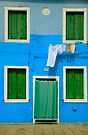 Burano Green & Blue by Inge Johnsson
