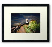 MYSTICAL LIGHTHOUSE Framed Print
