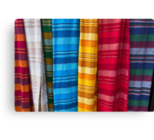Pashminas or  Scarves - Camden Markets - London Canvas Print