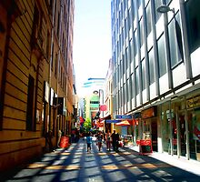 Adelaide CBD side Walks by Chris Chalk