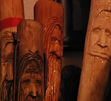 Wooden Faces by AlGrover