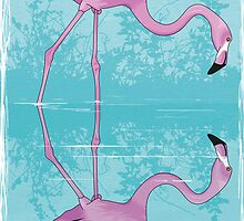 Flamingo Reflection Detection by Stu  Jones