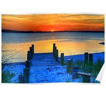 July Sunset at Fenwick Island Poster