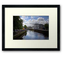 View from a Bridge - Cork, Ireland Framed Print