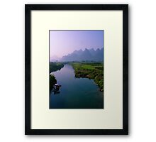 Fantacy on China Yulong River Framed Print