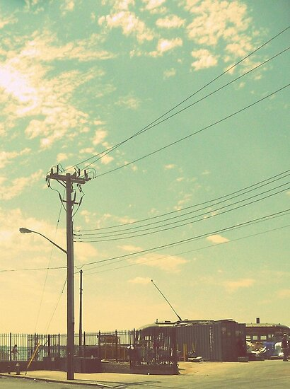 Telephone poles and the beautiful summer sky. by ShellyKay