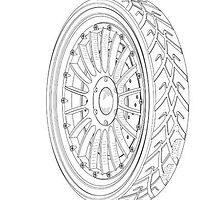 Sample Wheel Design Patent Drawings by devalpatrick