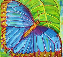 Blue Morpho Butterfly of the Rainforest by Kelly ZumBerge