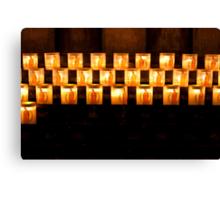 Candles, Notre Dame de Paris Canvas Print