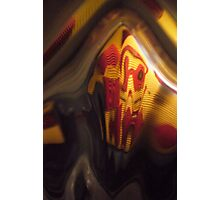 Fun House, Orange, red, black grey Warm Mono chromatic Raw Image Photographic Print