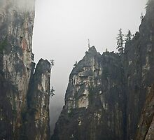 Granite Cliffs - Yosemite National Park by rrushton